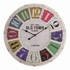 havana wall clock by oak furniture land