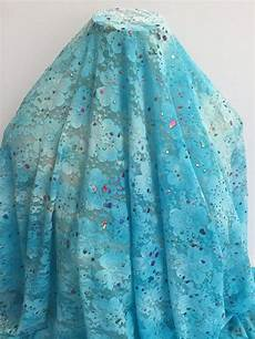 17 273 paint splatter turquoise lace striped linen ruffle fabric lace
