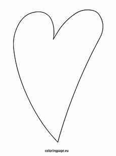 Malvorlage Geschwungenes Herz Elongated Template Template Shapes