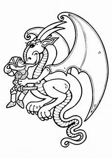 ausmalbilder drache mag den ritter drachen malvorlagen