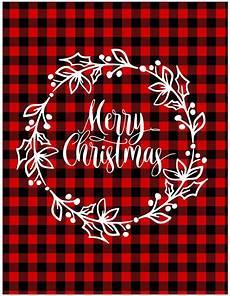 christmas buffalo check sign wreath merry christmas wallpaper iphone christmas christmas