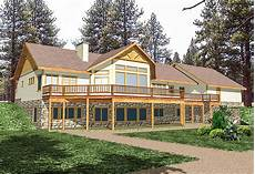 house plans for sloped land mountain house plan for sloping lot 35098gh
