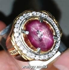 batu cincin natural akik ruby star asli kode 1349 wahyu mulia