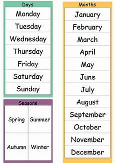 worksheets days of the week months of the year 18238 months seasons and days of the week lessons tes teach