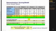 bwl nutzwertanalyse teil 2 pr 228 ferenzmatrix