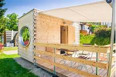 tiny house wellnessoase modulhaus aus holz100 thoma