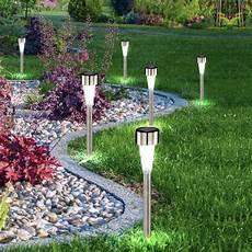 lumiere solaire de jardin set de 12 luminaires solaires ext 233 rieurs jardin lumi 232 re