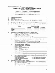 annual medical report form dole bwc hsd h 47 a physical examination occupational safety
