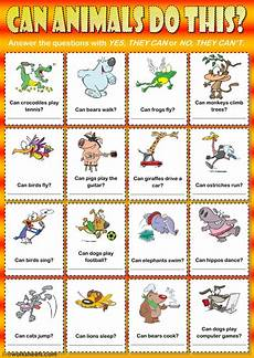 animals abilities worksheets 13782 can animals do this can or can t interactive worksheet