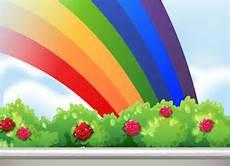 ein regenbogen am himmel kostenlose vektor