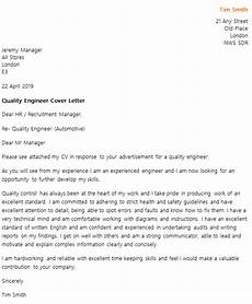 quality engineer cover letter exle icover org uk