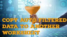copy auto filtered data to another worksheet automatically