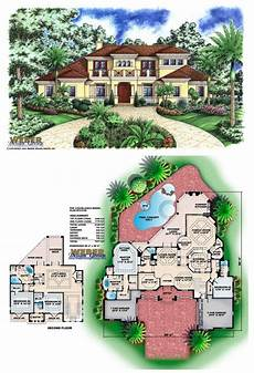 mediterranean house plans with pool casablanca house plan in 2020 mediterranean homes