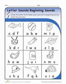 letter sound worksheets kindergarten 23182 letter sounds beginning sounds worksheet education