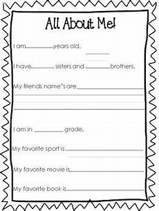 6 all about me printable worksheets preschool 5th grade