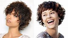 short haircuts curly hair hairstyles 2018 youtube