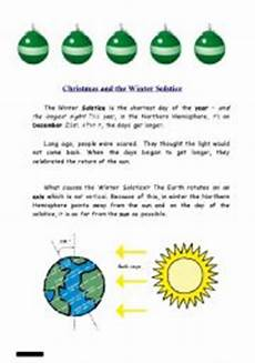 winter solstice reading worksheets 20081 and the winter solstice esl worksheet by philiproth