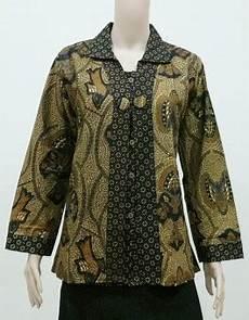 10 Model Baju Batik Wanita Lengan Panjang Modern Model