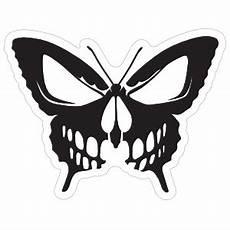 Skull Butterfly Sticker
