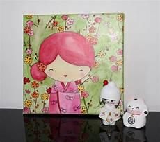 format toile peinture mariko et aquarelle sur toile format 20x20 cm 2017 myriam lakraa cr 233 ations