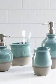 Grey Bathroom Accessories Ideas by Bathroom Blue Ceramic Soap Dispenser Ceramic Wall