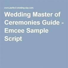 wedding master of ceremonies guide emcee sle script wedding tips tricks hacks in