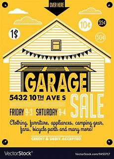 design garage garagen als garage sale poster royalty free vector image vectorstock