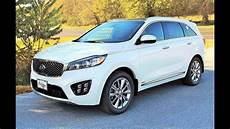 2016 kia sorento sxl v6 awd start up review and tour