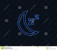 sleep sign icon moon with zzz button stock vector illustration of brick night 110821785