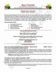 preschool teacher resume sle teacher resume template elementary teacher resume teaching