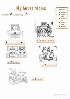 worksheets rooms 19037 myhouse rooms worksheet free esl printable worksheets made by teachers