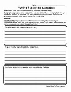writing topic sentences worksheets 22237 lined paper teaching