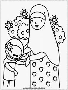 Contoh Gambar Mewarnai Anak Muslim Annaseha