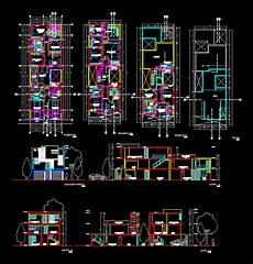 dwg house plans single family house 2d dwg plan for autocad designscad