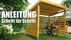 Fahrradgarage Aus Holz Selber Bauen Mrhandwerk