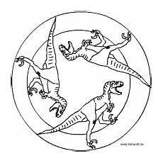 saurier mandala ausgestorbene tiere tiere dinosaurier