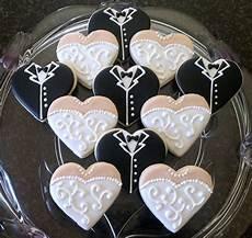 diy wedding dress cookies items similar to wedding dress and tuxedo heart sugar