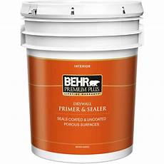 behr premium plus 5 gal white interior drywall primer and sealer 07305 the home depot