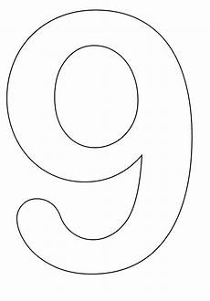 Number Nine Coloring Numbers To Color Coloring Pages