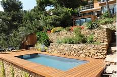 piscine sur terrain en pente photos de piscines piscine piscinelle