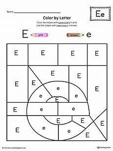 lowercase letter e worksheets 24621 lowercase letter e color by letter worksheet myteachingstation