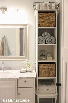 storage ideas for small bathrooms with no cabinets white bathroom vanty cabinet cottage style this mamas small bathroom storage