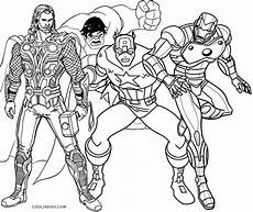 Ausmalbild Marvel Superhelden Thor With Captain America And Ironman Coloring Pages