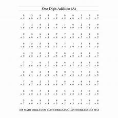 multiplication worksheets single digit 4589 addition worksheet single digit addition 100 vertical questions teaching