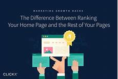 the difference between ranking your home page and the rest of your pages clickx