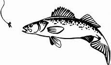 fisch beim angeln ausmalbild malvorlage tiere