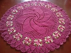 tapete redondo de croch 234 em fio de malha artes de miucha elo7 lindo tapete redondo em croche 8 fios 1 70m r 199 00 em mercado livre
