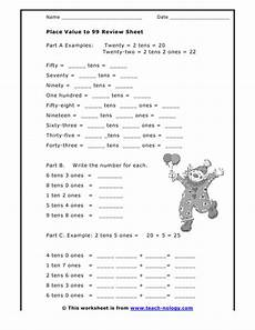 place value review worksheets 5258 place value to 99 review sheet