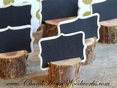 12 rustic cedar place card holders tree card holders