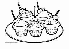Malvorlagen Cake Kleurplaat Cupcakes Eten